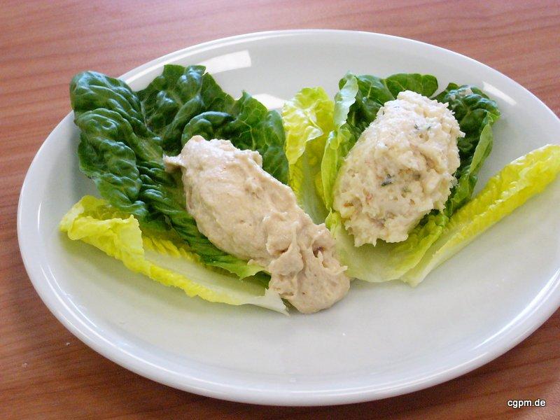 Thunfisch Mousse auf Blattsalat