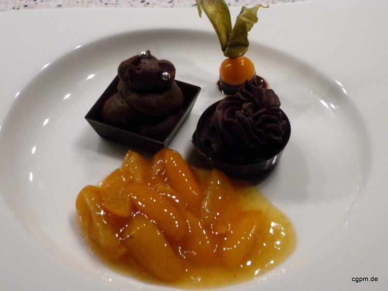 Schoko-Konfekt mit Kumquats