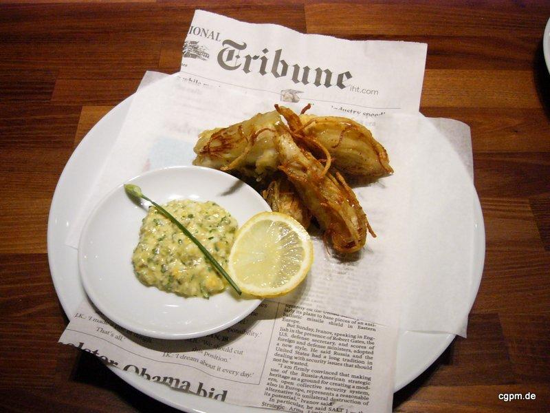 Fisch & Chips mit Sauce Gribiche